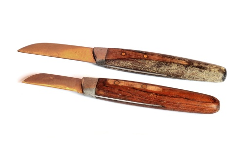 A Couple of Small Raadvad Knives With Rosewood Handles